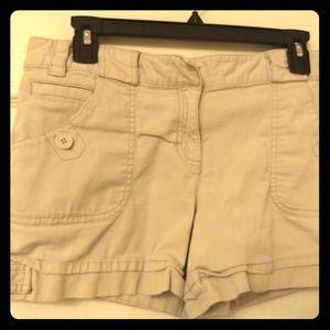 Ann Taylor Loft Khaki Shorts